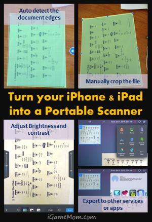 Turn your iPhone iPad into Portable Scanner