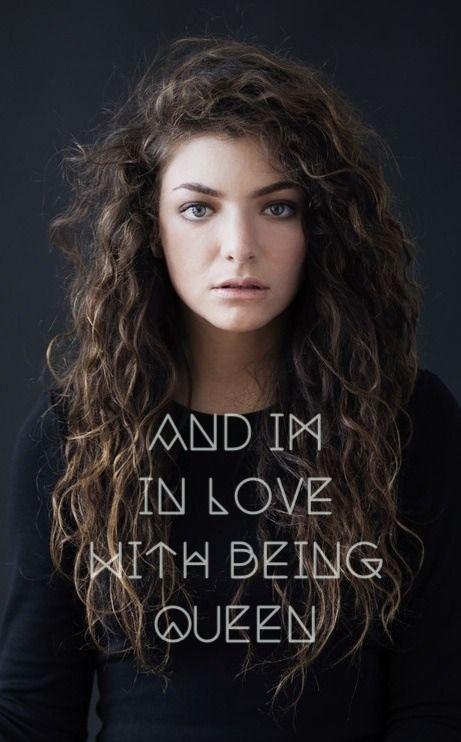 Lorde. Love her hair!