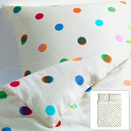 Ikea Ps 2012 Linen Polka Dot Off White Full Queen 3 Pc