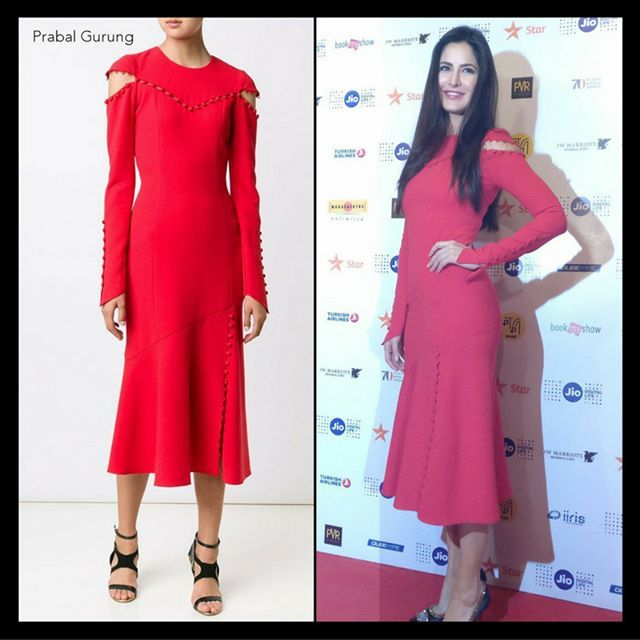 Katrina Kaif in a red @prabalgurung button detail crepe dress with red lips at the Fashion and Film Panel Discussion  #KatrinaKaif #PrabalGurung #JioMAMIwithStar2016 #Red #makeup #bollywood #instabollywood #instafashion #fashion #instastyle #style #beauty #instabeauty #instalike #instafollow #follow4follow #like4like #igers #instapic #instaphoto #bollywoodfashion #BollywoodStyle #OOTD #LookOfTheDay