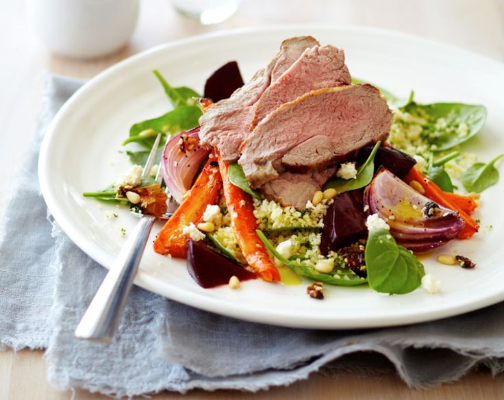 Warm Lamb, Carrot & Beetroot Salad