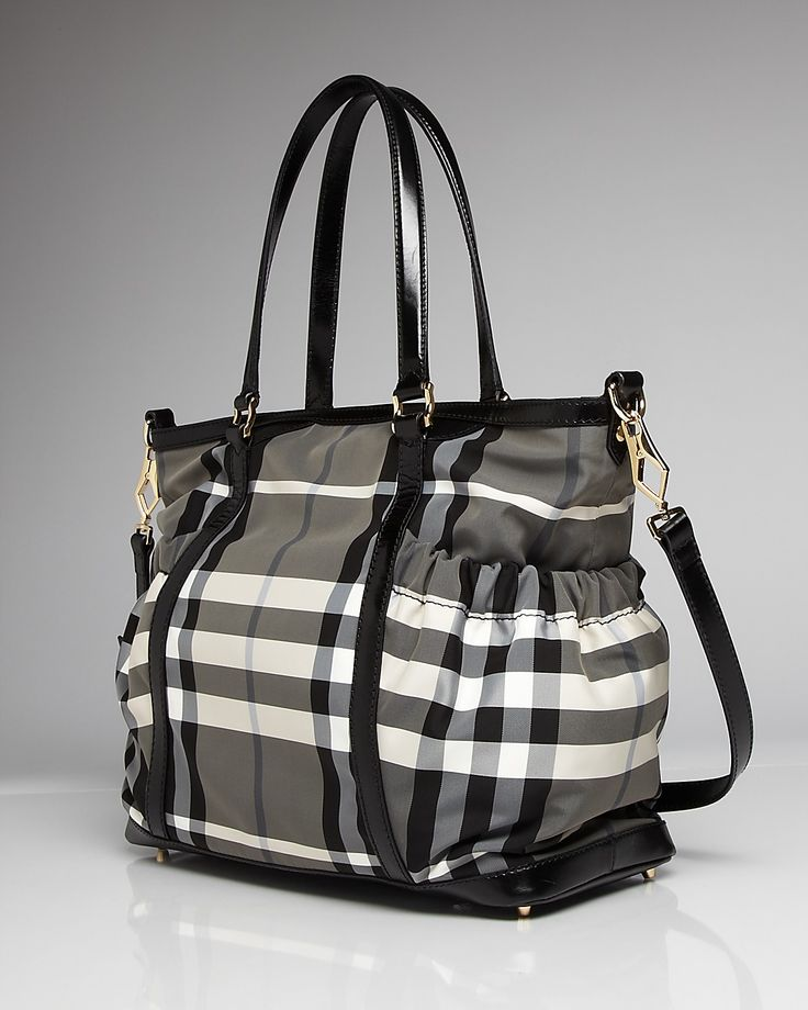 Burberry Beat Check Baby Tote Bag...basically I like to use diaper bags as purses and travel bags because they have so many inside pockets for organization!
