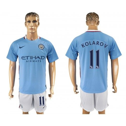 2017-18 Kit Calcio Manchester City Home 11 Kolarov Maglie Calcio