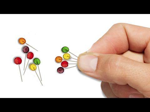 Miniature Lollipops DIY - Dollhouse Tutorial - YouTube