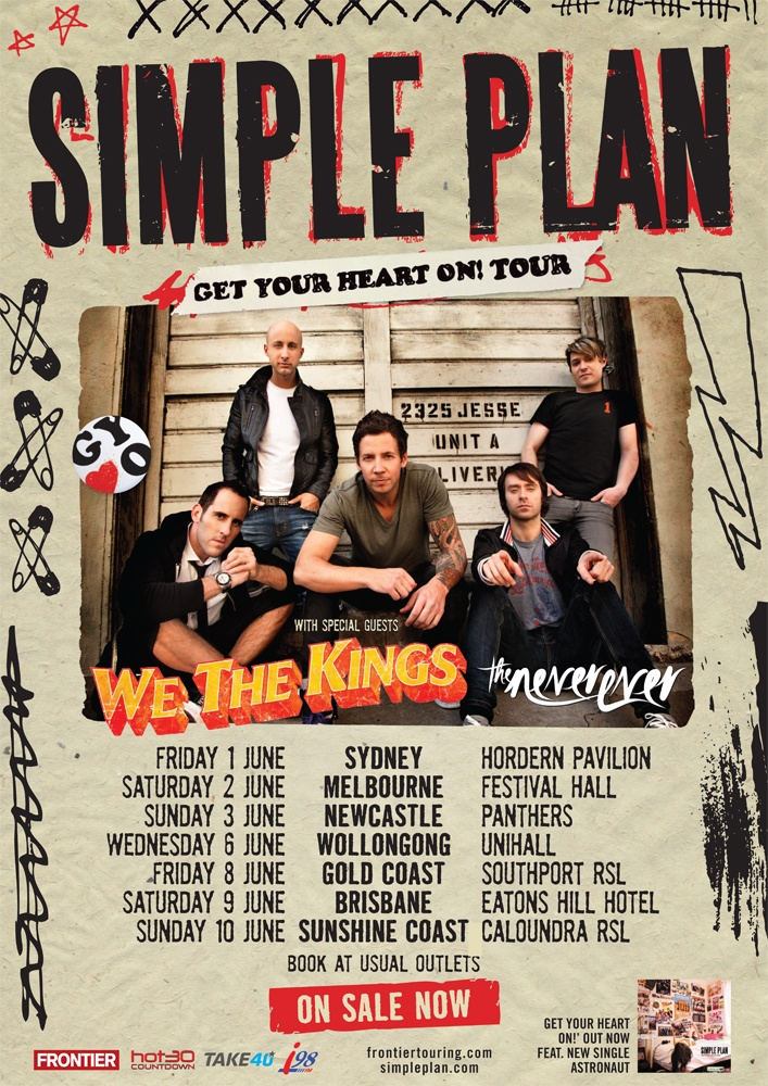 Simple Plan - 1st June, 3rd June, and 6th June. Road Trip, Fun Times, Good Company.