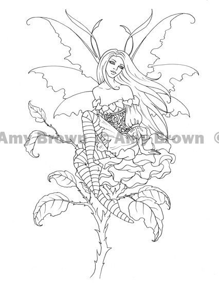 amy brown coloring pages free - photo#5