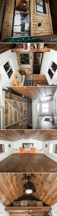 The Roving tiny house by 84 Lumber: a 154 sq ft home on wheels.