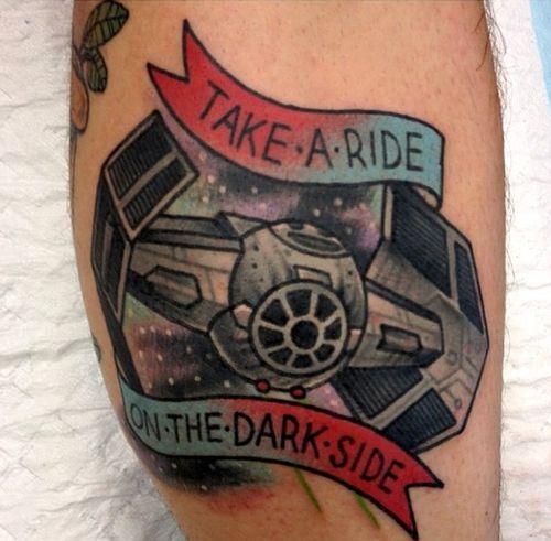 star wars starship traditional tattoo - Traditional tattoos