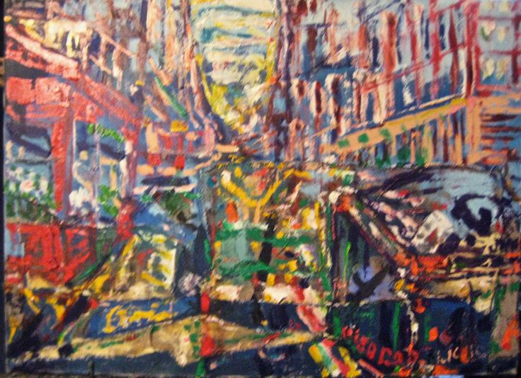 "PHILIP LAWRENCE SHERROD NA (STREET*PAINTER)-*PAINTING*-..(*NYC*/-..*PLEIN*AIR*!)?(*FOUNDER*/-..-*STREET*PAINTERS)!? TITLE:-""23rdSTREET/-..-&*6thAVENUE/-..-(LOOKING*EAST!)""? MED:OIL/ACRYLIC/-&*ADDED*CANVAS(!)  SIZE:22"" X 30"" DATE:2013 artist's(C)copyright: Med Oil Acrylic Added Canvas, Lawrence Sherrod S Cityscapes, Philip Lawrence, Med Acrylic Oil Canvas, Size 22 X30, Artists S C Copyright"