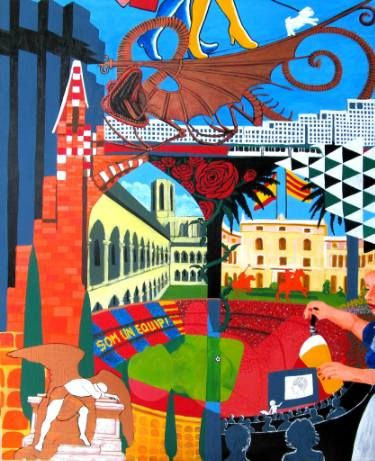"Saatchi Art Artist Karlijn Surminski; Painting, ""Les Corts Pedralbes"" #art"