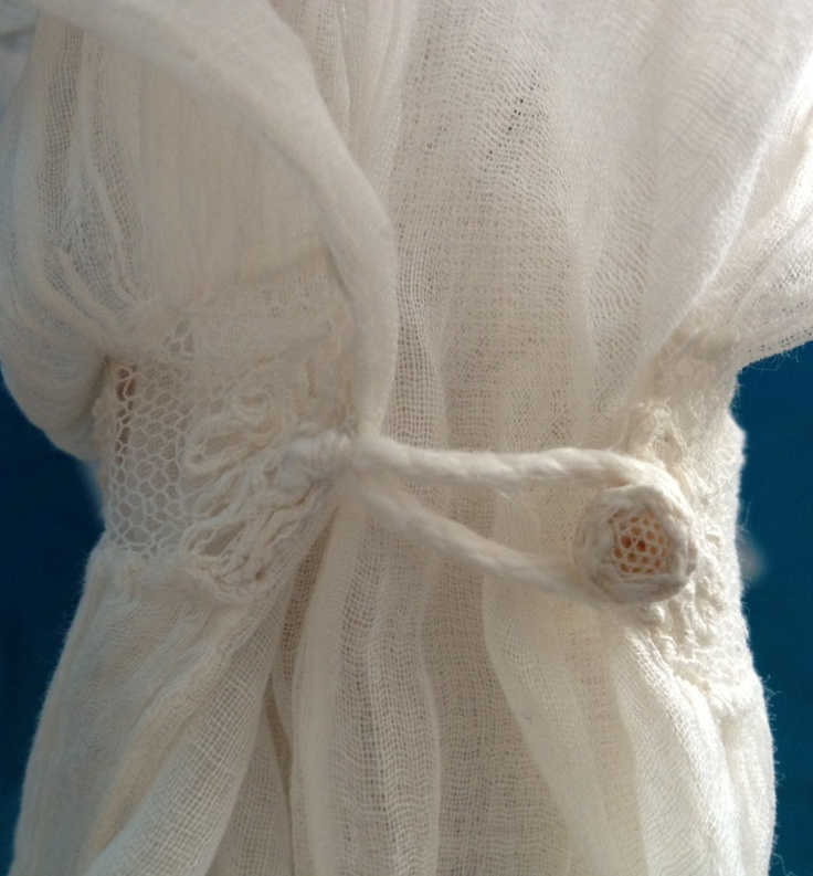 c1805-10 fine white muslin gown with Juliet sleeves. Cuff detail. Books of the whole Sylvestra Regency Fashion collection available! http://www.blurb.co.uk/search/site_search?search=sylvestra+regency