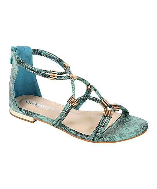 Turquoise Lotus Sandal