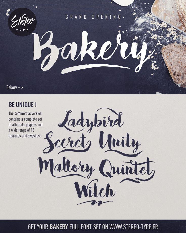 Bakery Font | dafont.com
