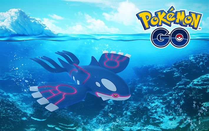 Download wallpapers Kyogre, 4k, 2018 games, Pokemon Go
