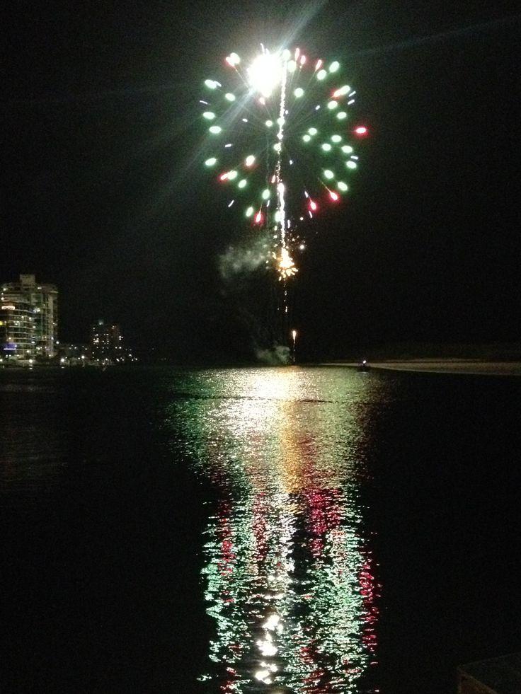 Cotton Tree Queensland Australia New Years Eve Fireworks
