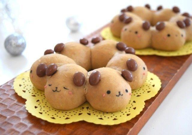 レンジ発酵 お菓子活用 コーヒーわんこのミニちぎりパンレシピ Michill ミチル 2020 ちぎりパン レシピ 食べ物のアイデア ちぎりパン