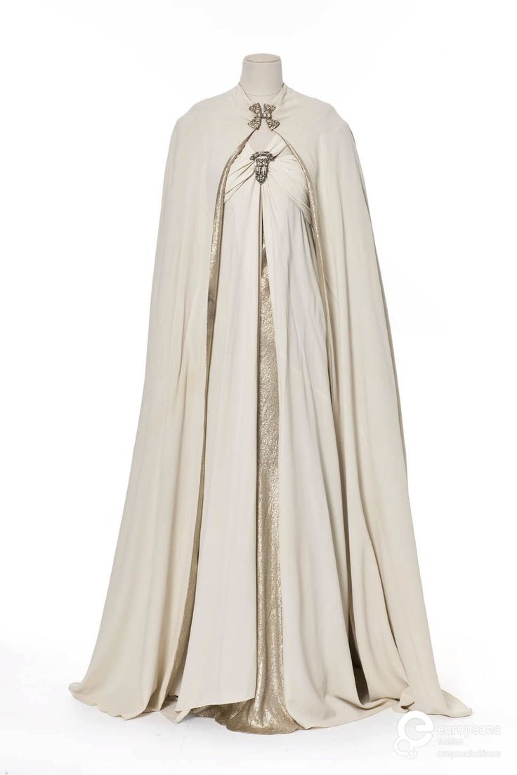 "ephemeral-elegance: "" Silk and Lamé Evening Gown and Cape, 1937 Madeleine Vionnet """