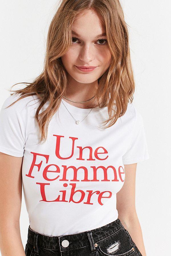 Slide View: 1: L'ecole Des Femmes Une Femme Libre Tee