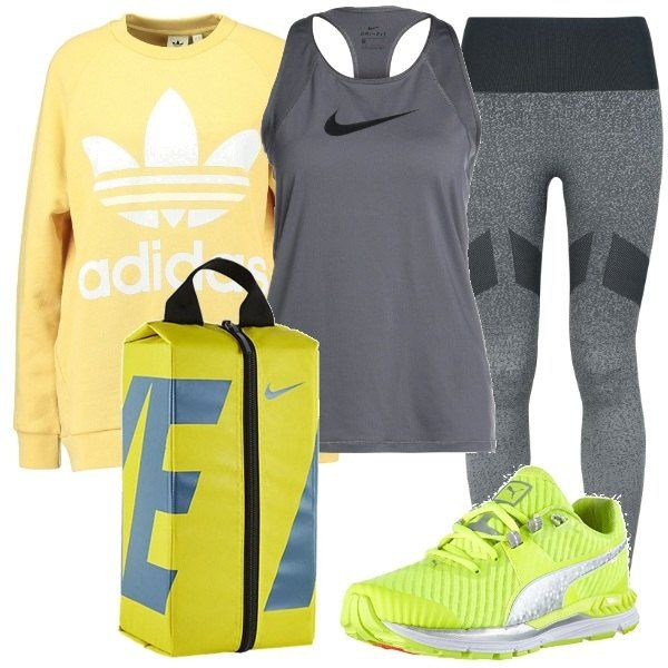 felpa e leggings adidas