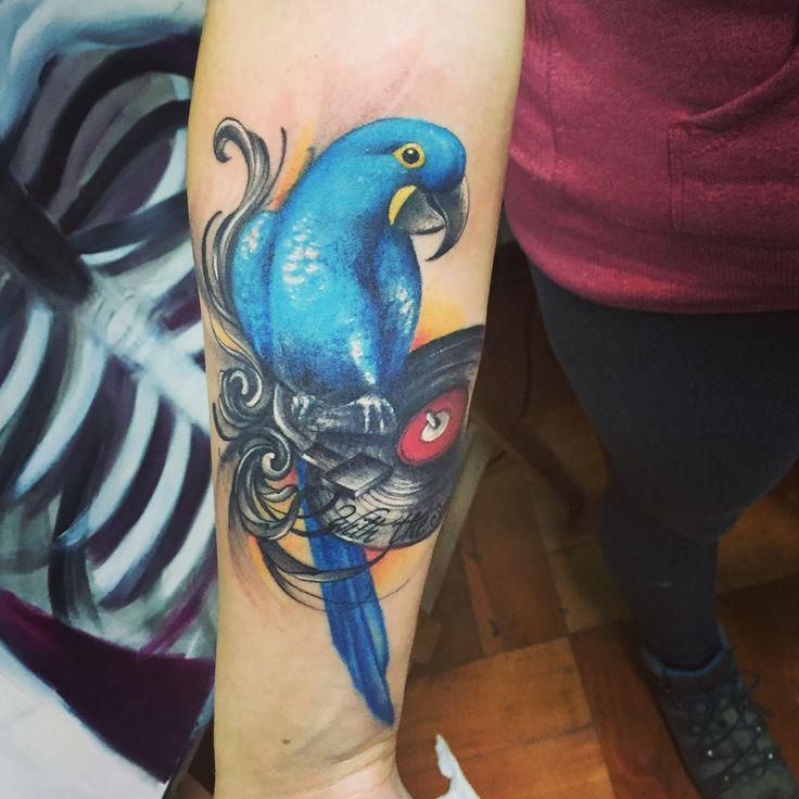 Amo mi tatuaje ❤️ #withthesoul #guacamayoazul #vinilo