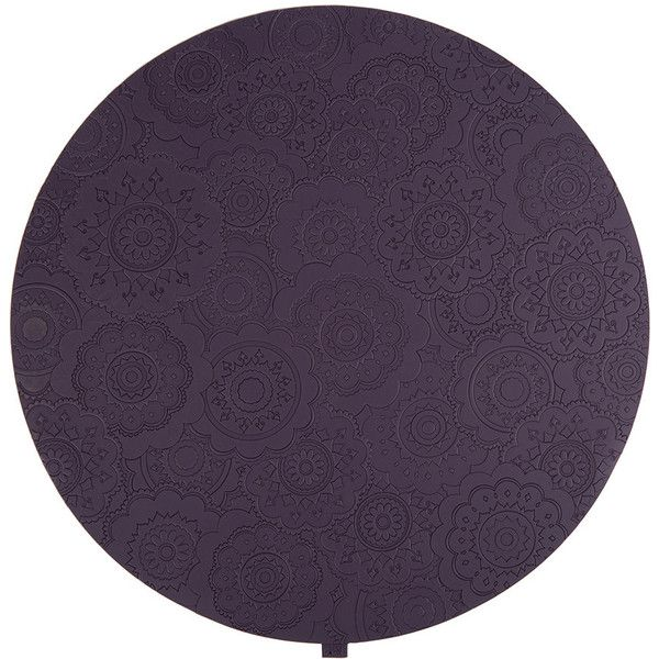 Images d'Orient Round Urban 03 Placemat - Plum ($17) ❤ liked on Polyvore featuring home, kitchen & dining, table linens, purple, purple place mats, plum placemats, purple table linens, heat-resistant placemats and purple placemats