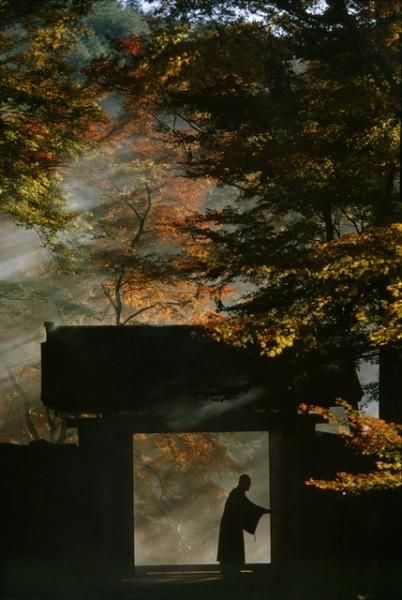 Sanzen-in Temple near Kyoto. Taken for a series on Japan for 'Life', circa 1963…