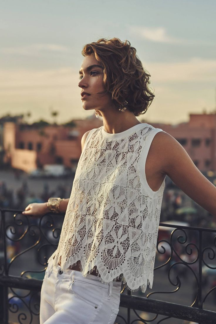 Scalloped Lace Tank - anthropologie.com