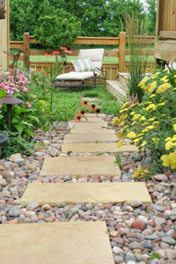 41 Ingenious and Beautiful DIY Garden Path Ideas To Realize in Your Backyard ikeadecoration backyard landscaping (7)