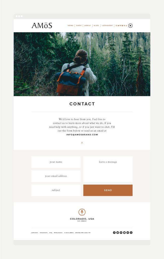 Amos Website Design   By Rowan Made