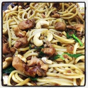 Soy and Basil Chicken Noodles by Tenina