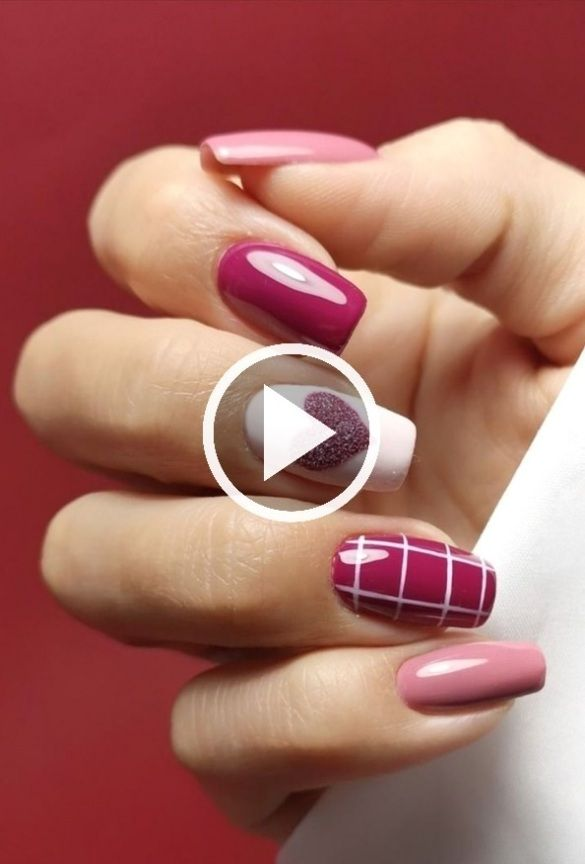 Best Valentine S Day Nail Art Ideas In 2020 Stylish Belles 2021 Sevgililer Gunu Tirnaklari Pembe Tirnaklar Basarmak