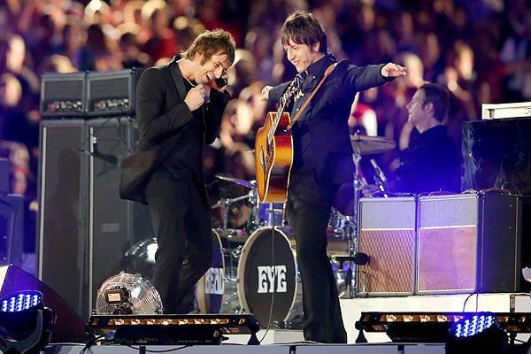 Liam Gallagher and Gem Archer of Beady Eye