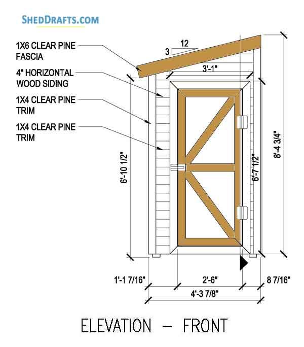 4 8 Lean To Shed Building Plans Blueprints To Create Backyard Shed Shed Building Plans Shed Plans Storage Shed Plans