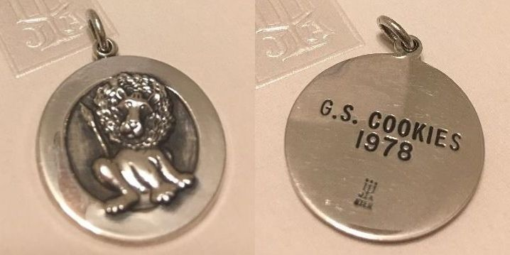 Details about  /James Avery Sterling Silver Girl Scout Cookies Bird with GS Initials Charm