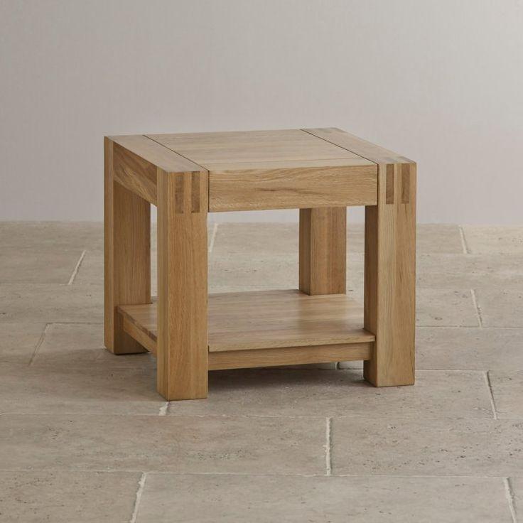 Alto Natural Solid Oak Bedside Table with Shelf
