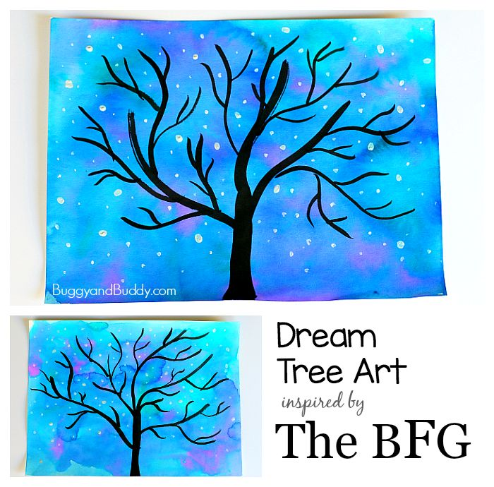 Dream Tree Art Activity for Kids inspired by Disney's The BFG movie