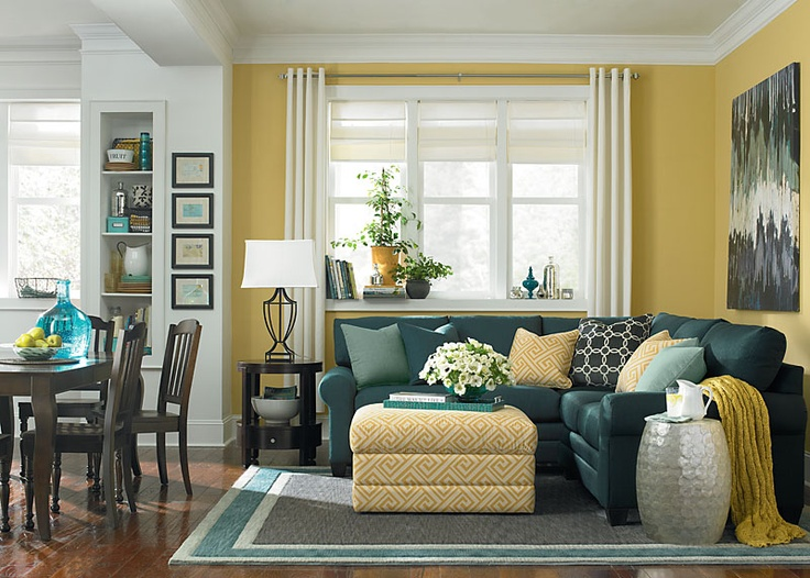 L Shaped Sectional By Bassett Furniture   Rich, Vibrant Colors And Modern  Fabrics Create An Updated Look For Spring.