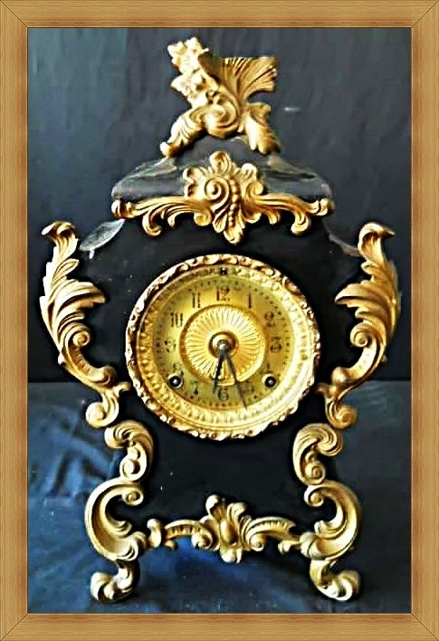 Buy Very rare 1882 French style Ansonia Mantle Clock. Sold as is / No key / Not tested / Cosmetic wearfor R1,600.00