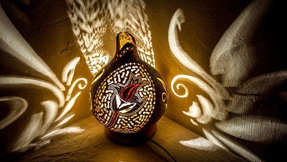 100% HANDMADE Gourd lamps shiny Christmas holiday gift Ottoman
