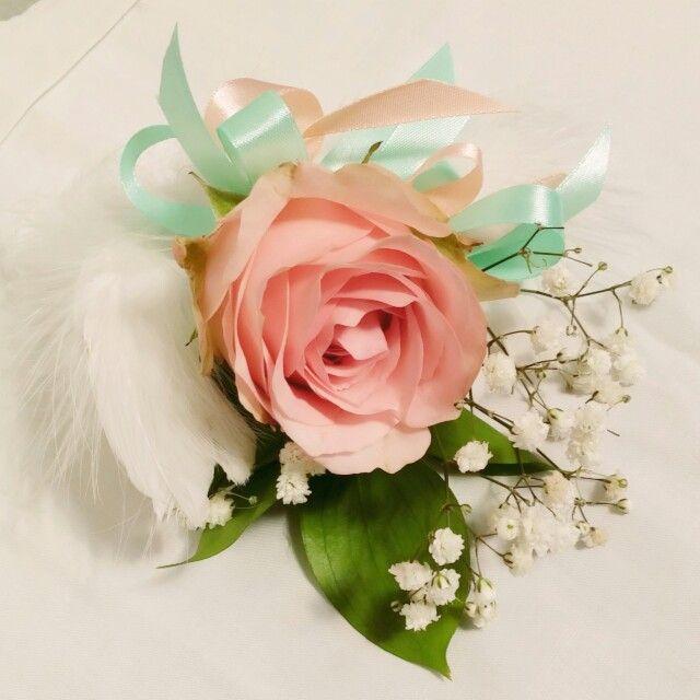 Groom corsage pink roses for Yonas & Regina wedding 15022015