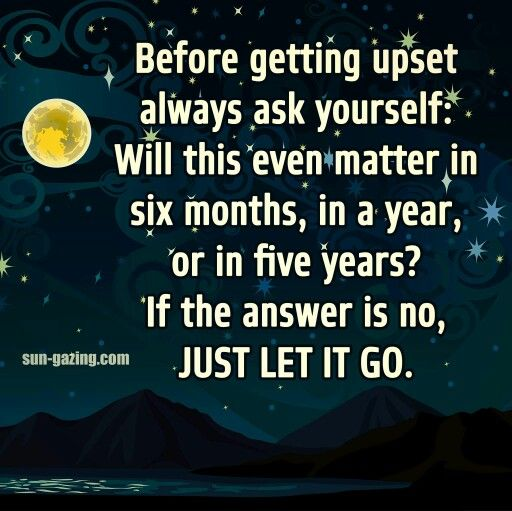 Easier said than done.. some things always matter...