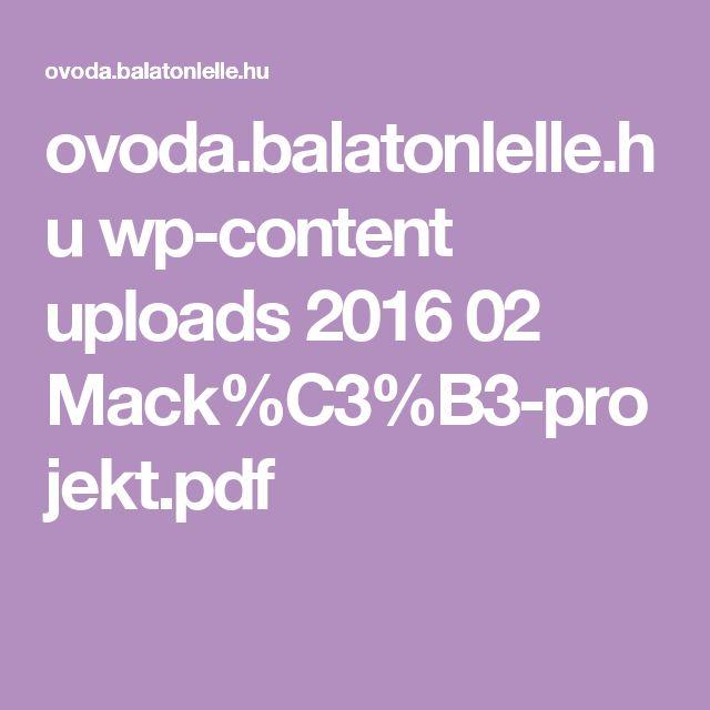 ovoda.balatonlelle.hu wp-content uploads 2016 02 Mack%C3%B3-projekt.pdf
