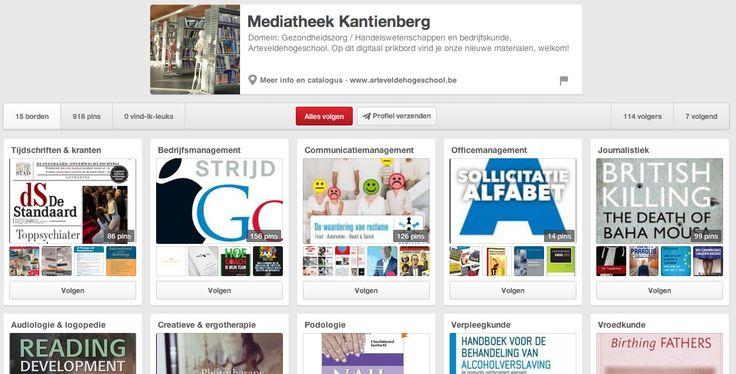 Ook onze eigen Artevelde Hogeschool maakt gebruik van Pinterest. De mediatheken plaatsen hun nieuwe aanwinsten (boeken ed.) in verschillende borden (één per studierichting). Er is één pinterestgebruiker per mediatheek. http://www.pinterest.com/medkantienberg/