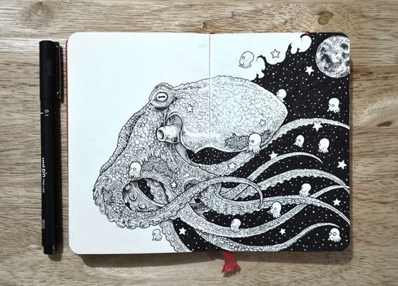 Hyperdetailed-Drawings-by-Kerby-Rosanes_2-640x460