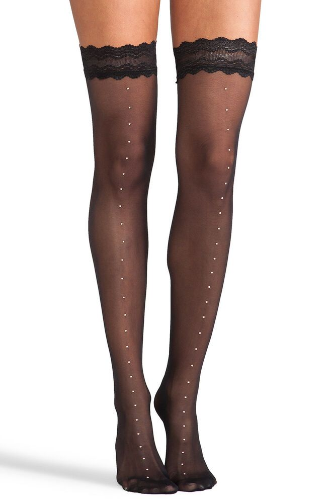 a5c5d3ffd Wolford hold up stockings L rose gold stud front seam NEW black stay ups  NATALE  fashion  clothing  shoes  accessories  womensclothing  hosierysocks  (ebay ...