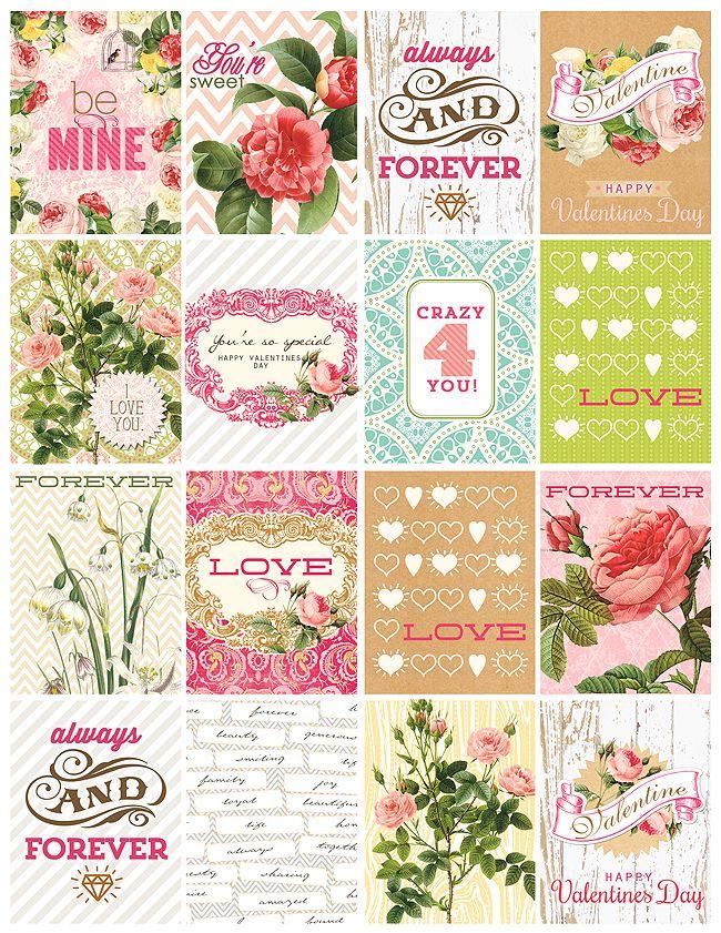 Webster's Pages nous gâte avec ces petites cartes à télécharger gratuitement : pour un mot doux, en embellissements, en cartes journaling, on les utilisera de nombreuses façons !