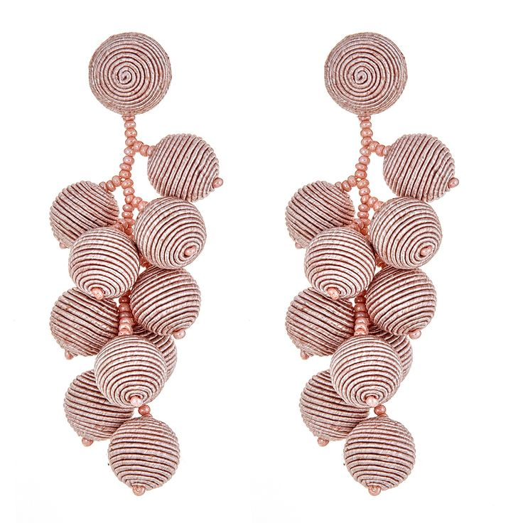 Suzanna Dai Blush Gumball Cluster Earrings at HAUTEheadquarters.com - Free Shipping - Shop Suzanna Dai Jewelry Online