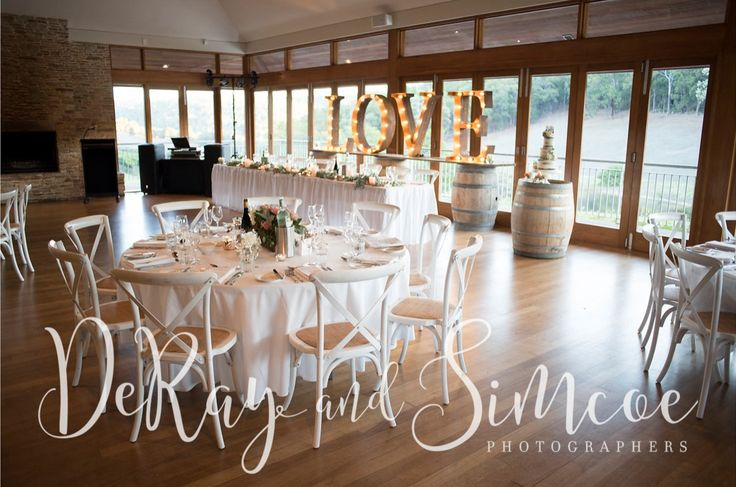 Weddings at Millbrook Winery | Photography - DeRay & Simcoe | Chairs - Heart Strings and Pretty Things | Letters - Vintage Letters & Co