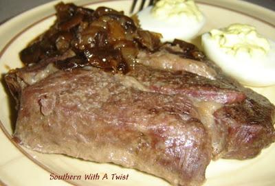 Baked Steak | Delicious recipes | Pinterest | Wait For It, Deviled ...
