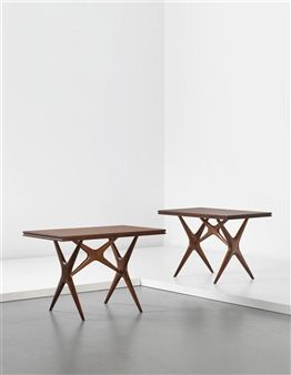 Pair of tables, from the Cavallini Restaurant, Milan By Ico Parisi ,1950